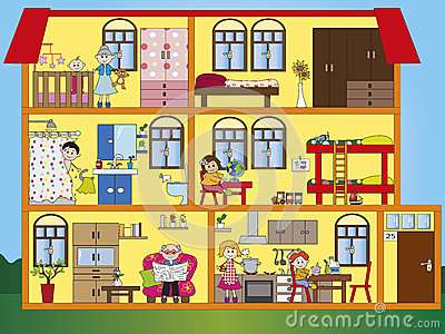 Inside House Clipart House Interior Illustration