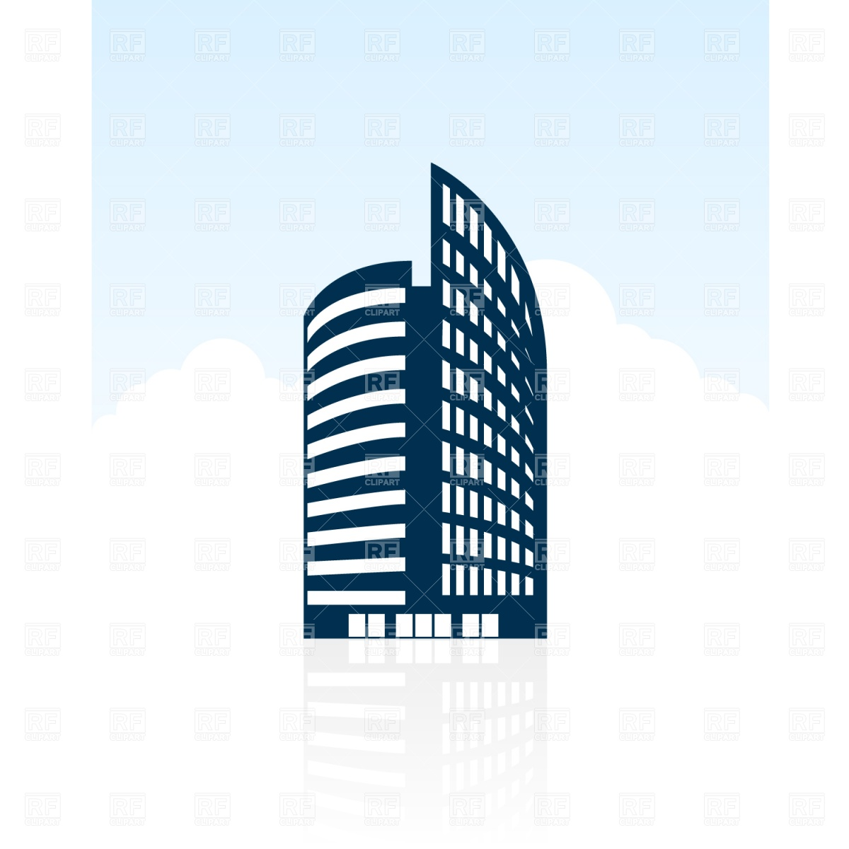 Modern Building Silhouette Download Royalty Free Vector Clipart Eps