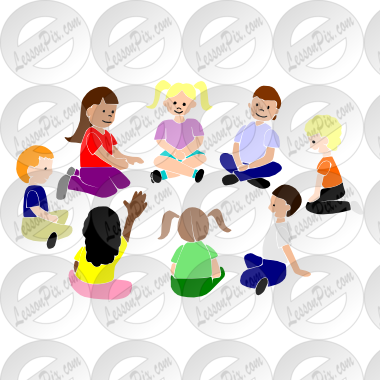 Morning Meeting Circle Clipart Circle Time Stencil