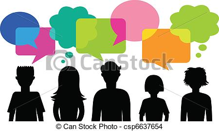 Of Young People With Speech Bubbles   Many    Csp6637654   Search Clip