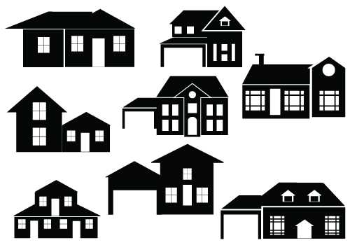 Perfect House Silhouette Vector For Downloadsilhouette Clip Art