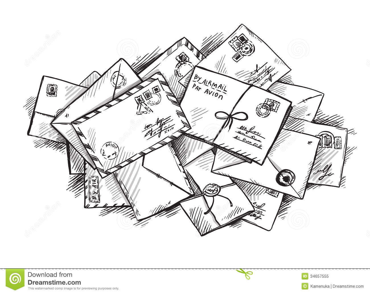 Pile Of Letters Royalty Free Stock Photo   Image  34657555