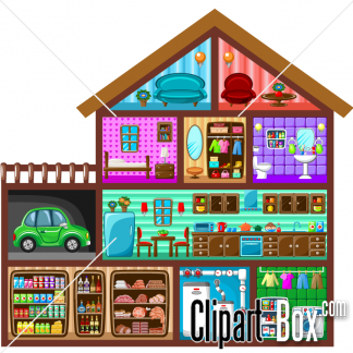 Related House Cutout Cliparts