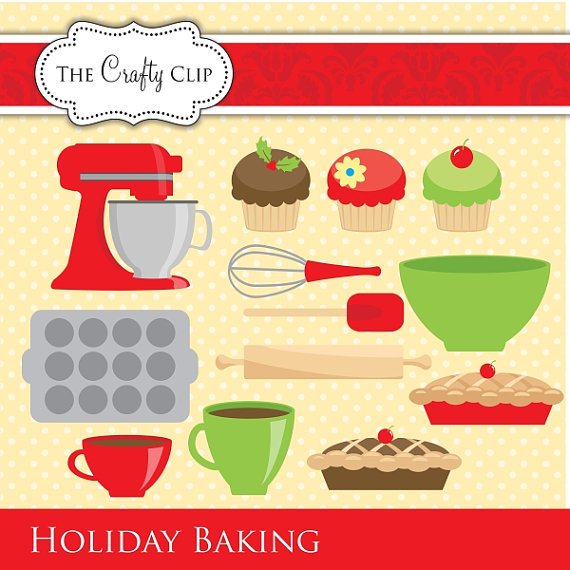 Sale Holiday Baking Clipart Set By Thecraftyclip On Etsy
