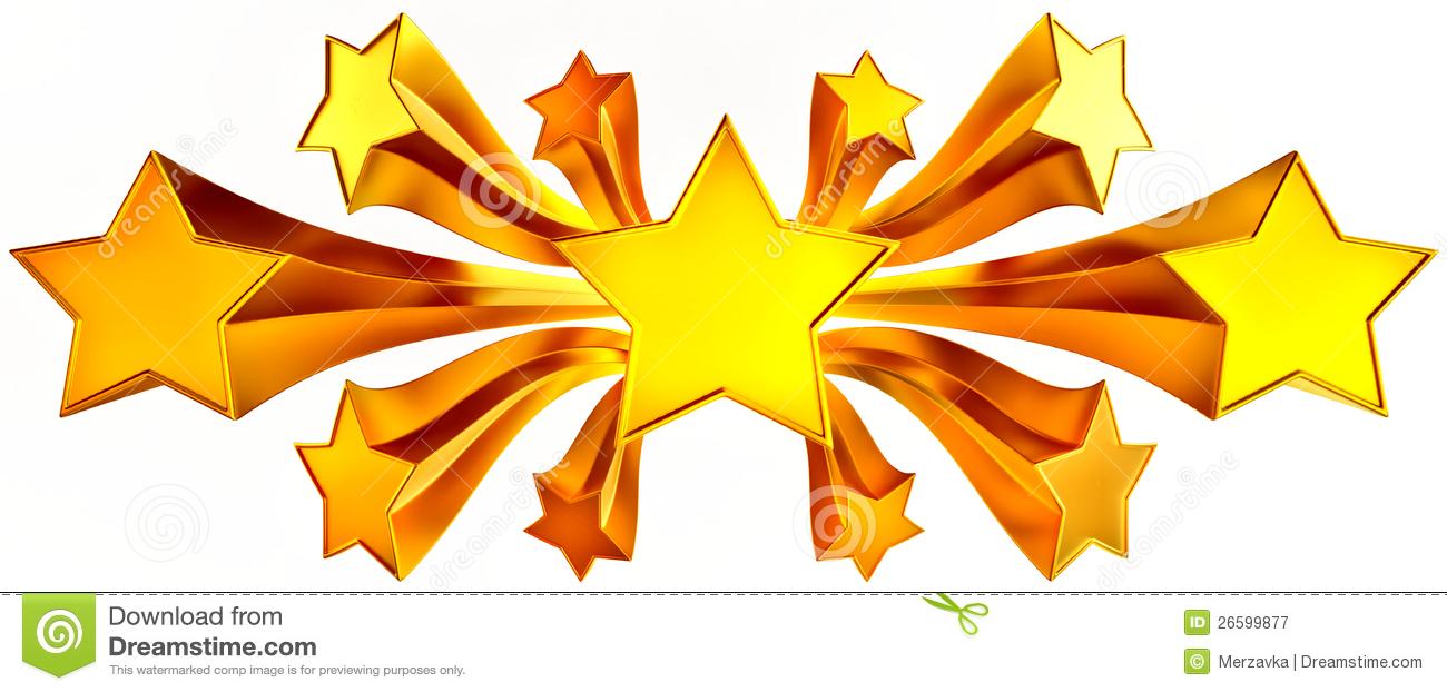Shining Stars Clipart Set Of Eleven Shiny Gold Stars