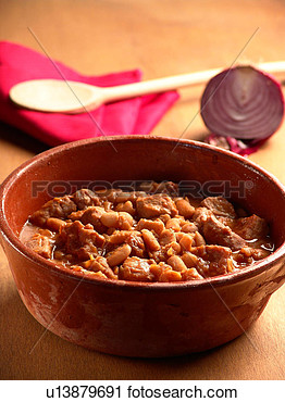 Stock Photography   Italian Pork And Beans Stew  Fotosearch   Search
