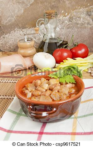 Stock Photography Of Beans With Pigskin   Beans With Pork Rinds And
