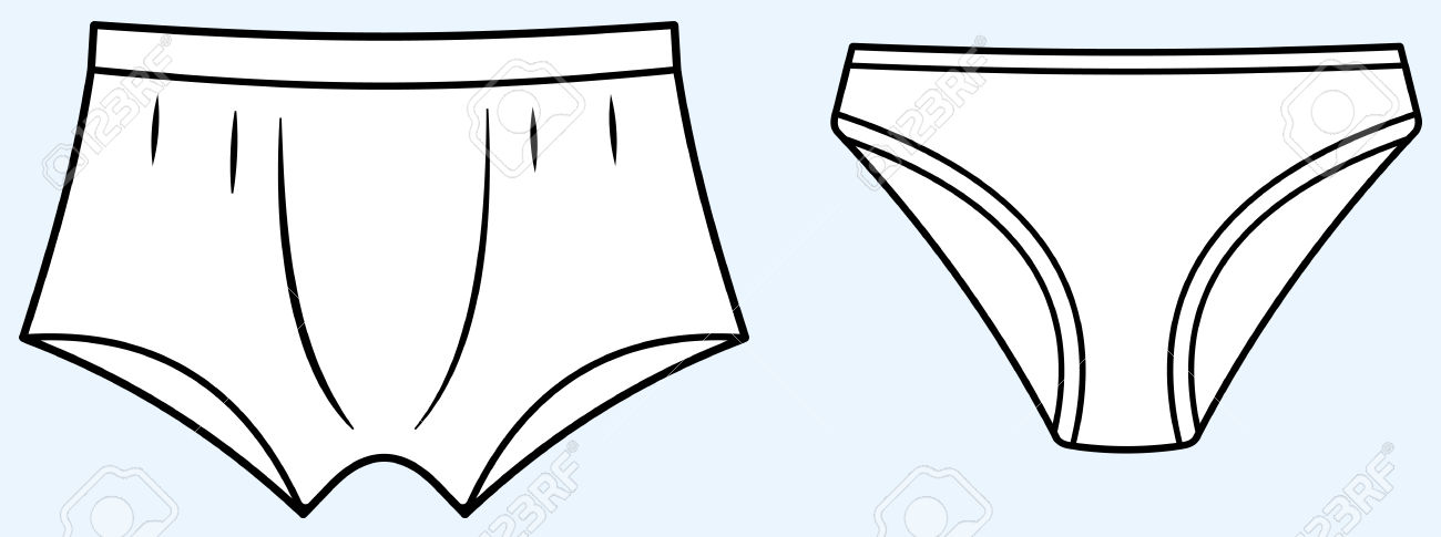 coloring pages underwear - photo#19