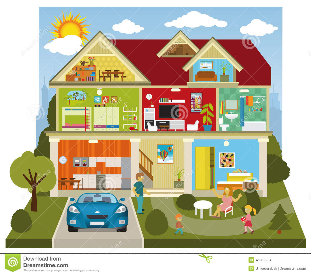 Inside House Cartoon Inside House Clipart Clipart Kid