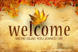 Welcome Fall Clip Art