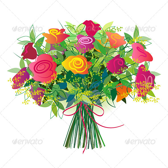 Bouquet Of Roses   Flowers   Plants Nature