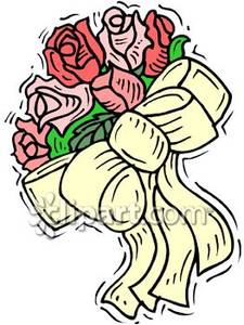 Bouquet Of Roses   Royalty Free Clipart Picture
