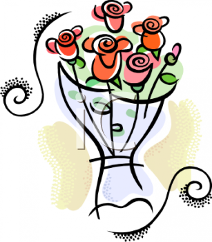 Cartoon Rose Bouquet Bouquet Of Roses Clipart