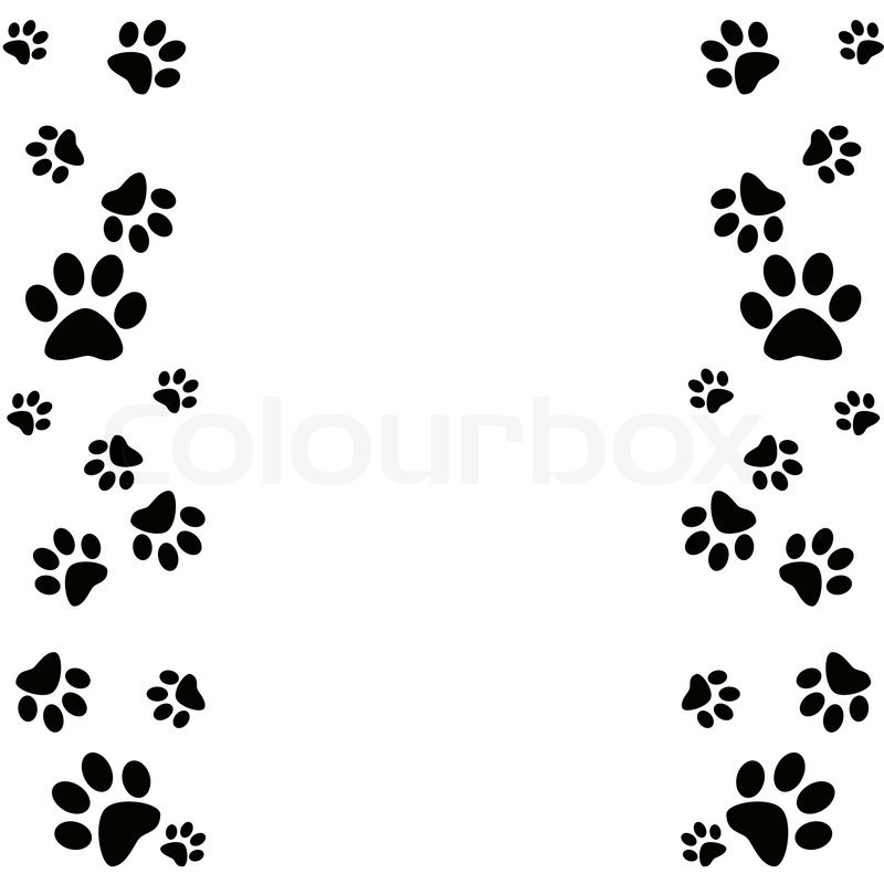 Dog Paw Prints Border Clipart - Clipart Kid
