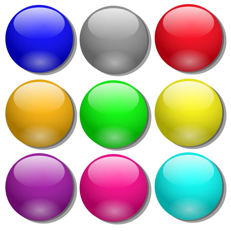 Game Marbles   Simple Dots By Nicubunu   Colored Simple Dots Can Be
