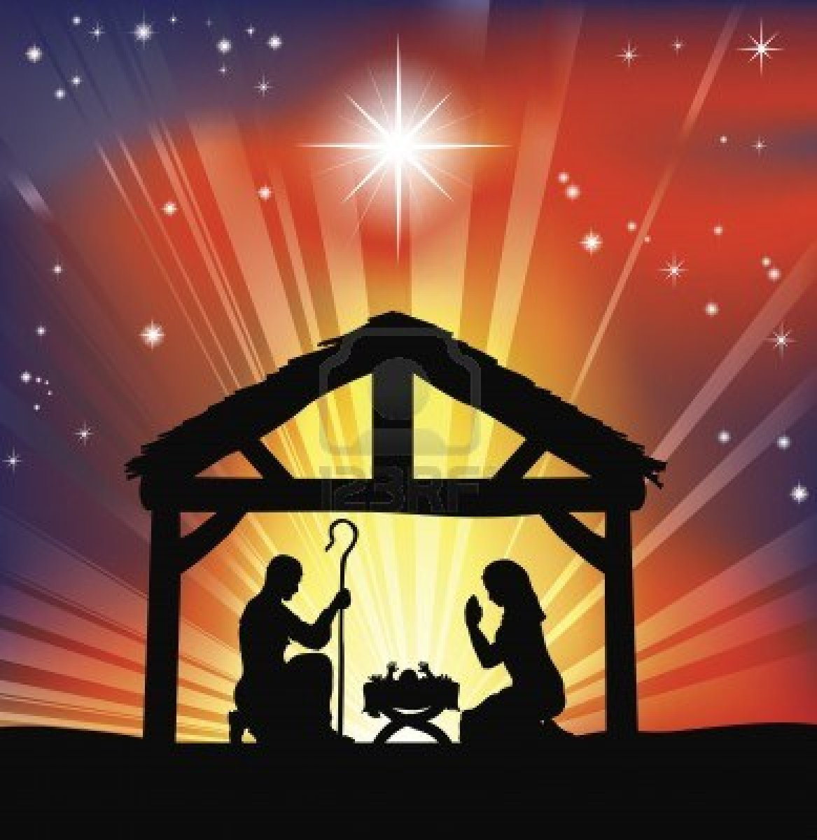 merry christmas manger gif