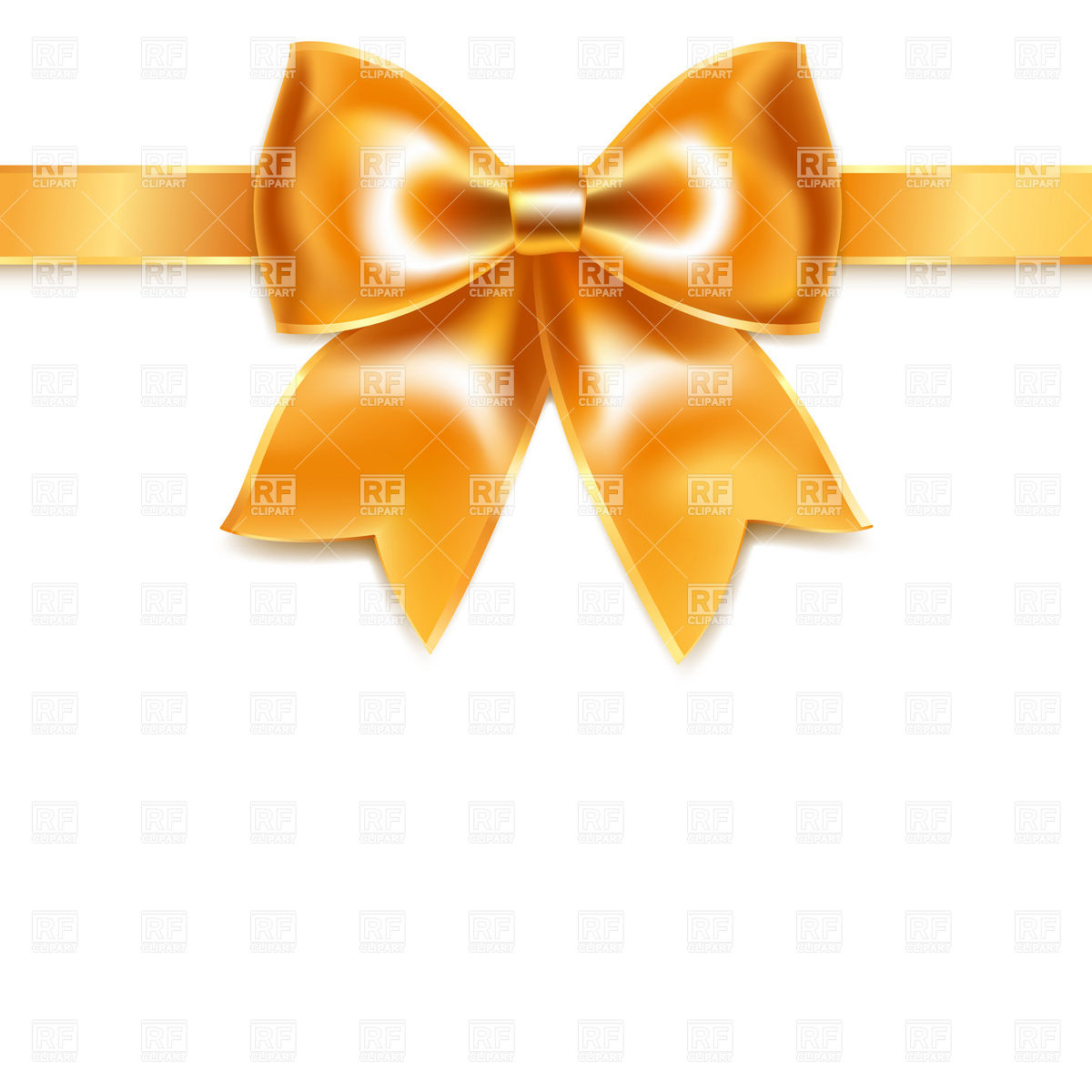 Golden Bow Of Silk Ribbon Isolated On White Background Download