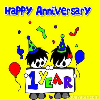 Mobavatar Com   Congratulation   Happy 1year Anniversary   Free