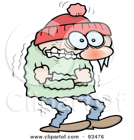 Person Freezing Clipart Cold Clip Art