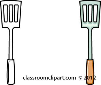 Offset Spatula Clip Art