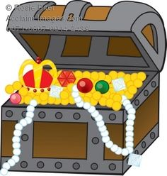 Treasure Clipart Stock Clipart Illustration Of A Treasure Chest