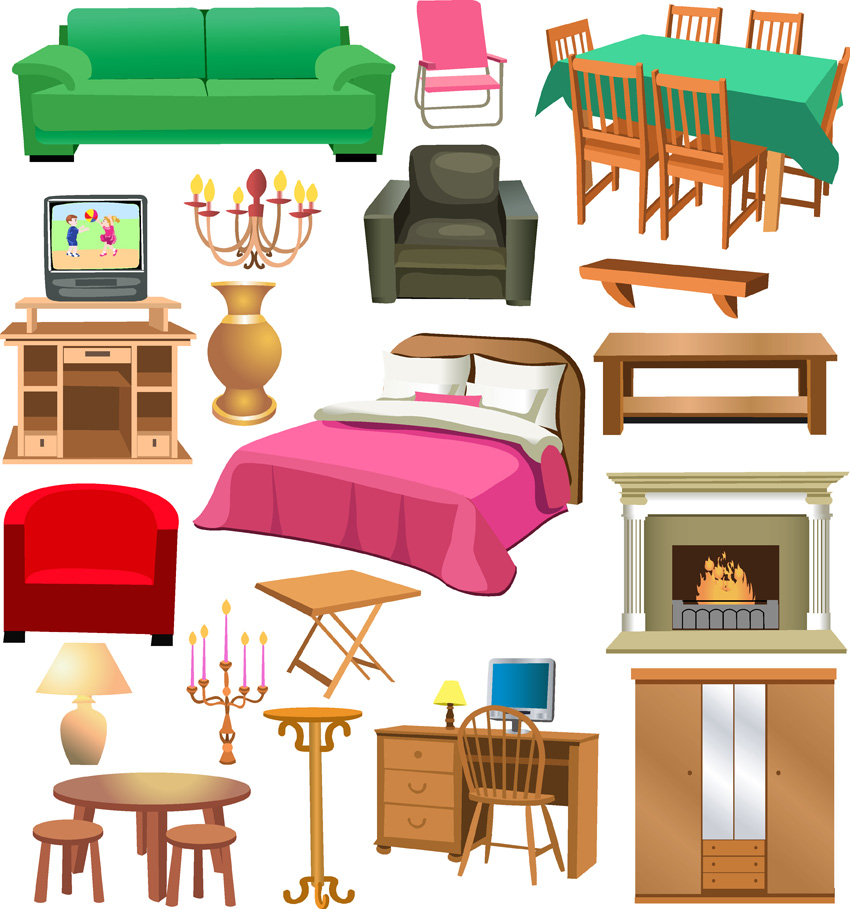 Clip Art Furniture Clip Art clip art house furniture clipart kid variety of free vector 4vector