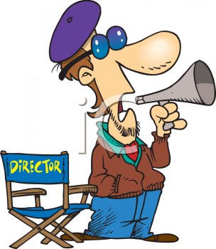 1455 Picture Of A Hollywood Director Issueing Commands Through A