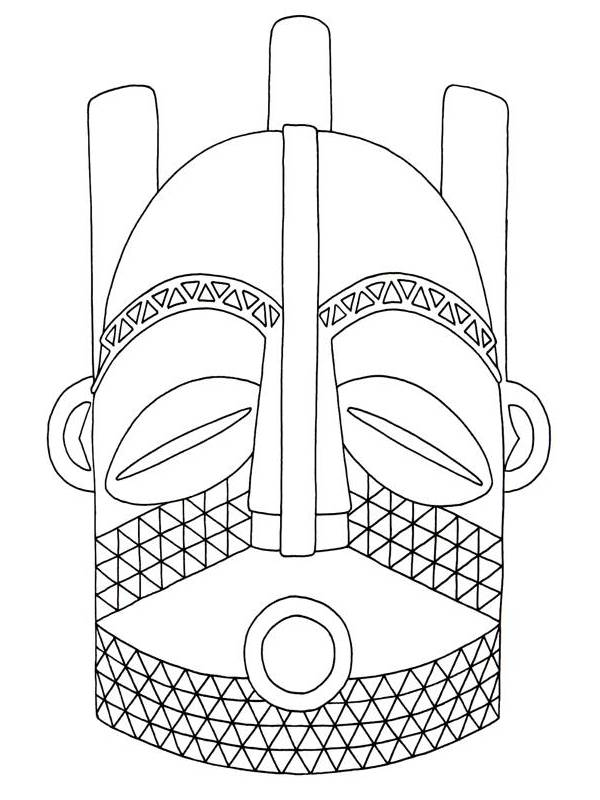 African Masks Clip Art   Biombo Mask