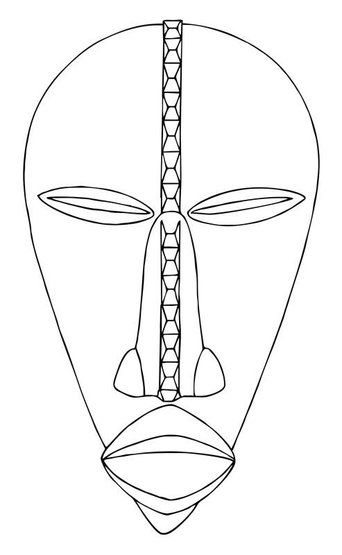 African Masks Clip Art   Dan Mask