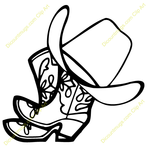Country Western Black And White Clipart - Clipart Kid