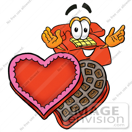 Clip Art Graphic Of A Red Landline Telephone Cartoon Character With An