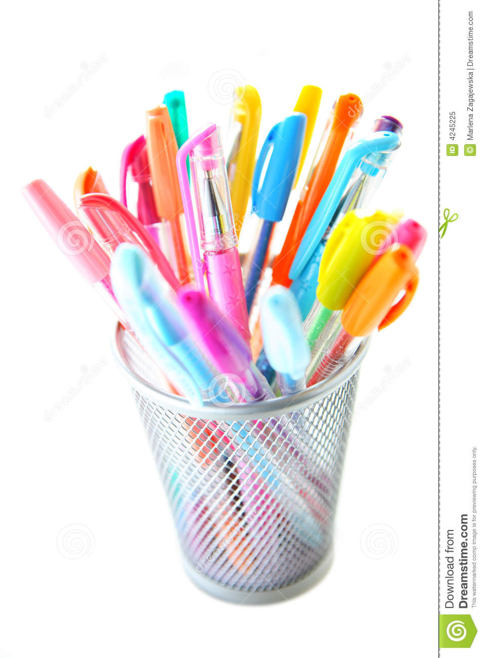 Colorful Pens Royalty Free Stock Photo   Image  4245225