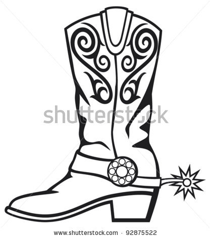 Clip Art Cowboy Boot Clip Art black western boots clipart kid cowboy and white panda free clipart