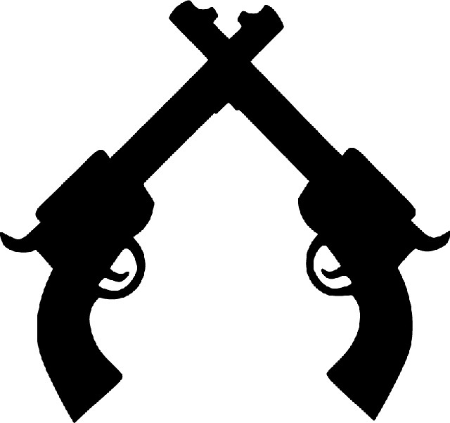Crossed Pistols Guns   Ammo   Clipart Panda   Free Clipart Images