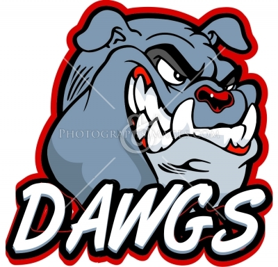 Dawgs Text With Bulldog Head   Bulldog Pictures   Mascots