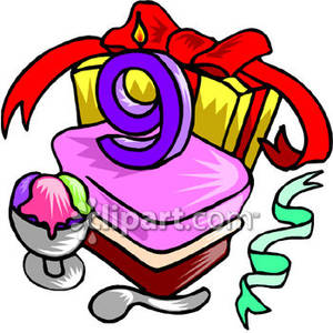 Eight Year Old Clipart 9 Year Olds Birthday Cake Royalty Free Clipart