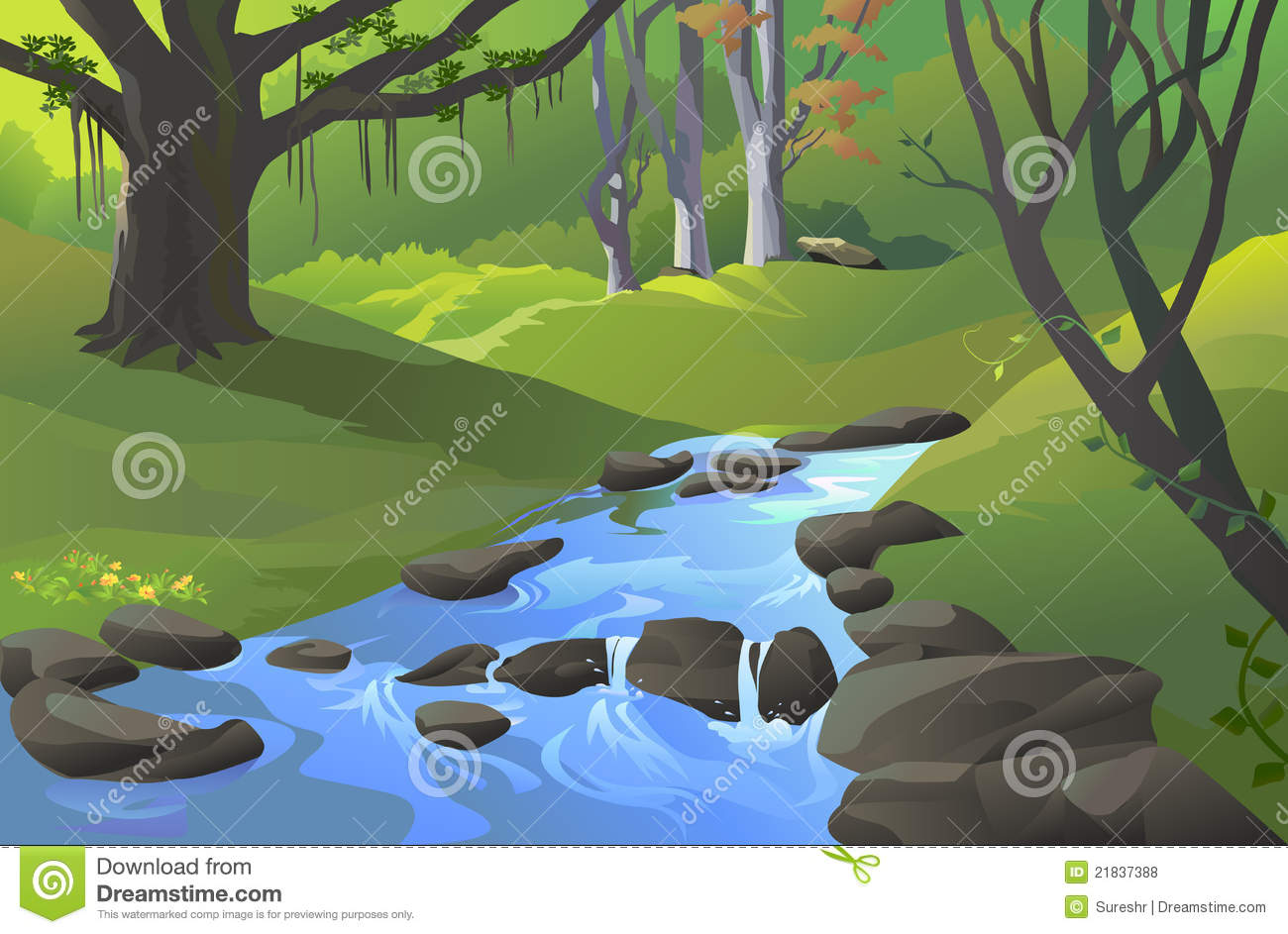 Green Amazon Forest With A Stream Royalty Free Stock Photos   Image