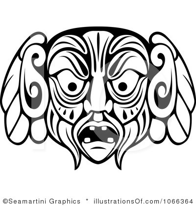 Maya Clipart Royalty Free African Mask Clipart Illustration 1066364