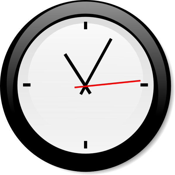 Modern Clock Clip Art At Clker Com   Vector Clip Art Online Royalty
