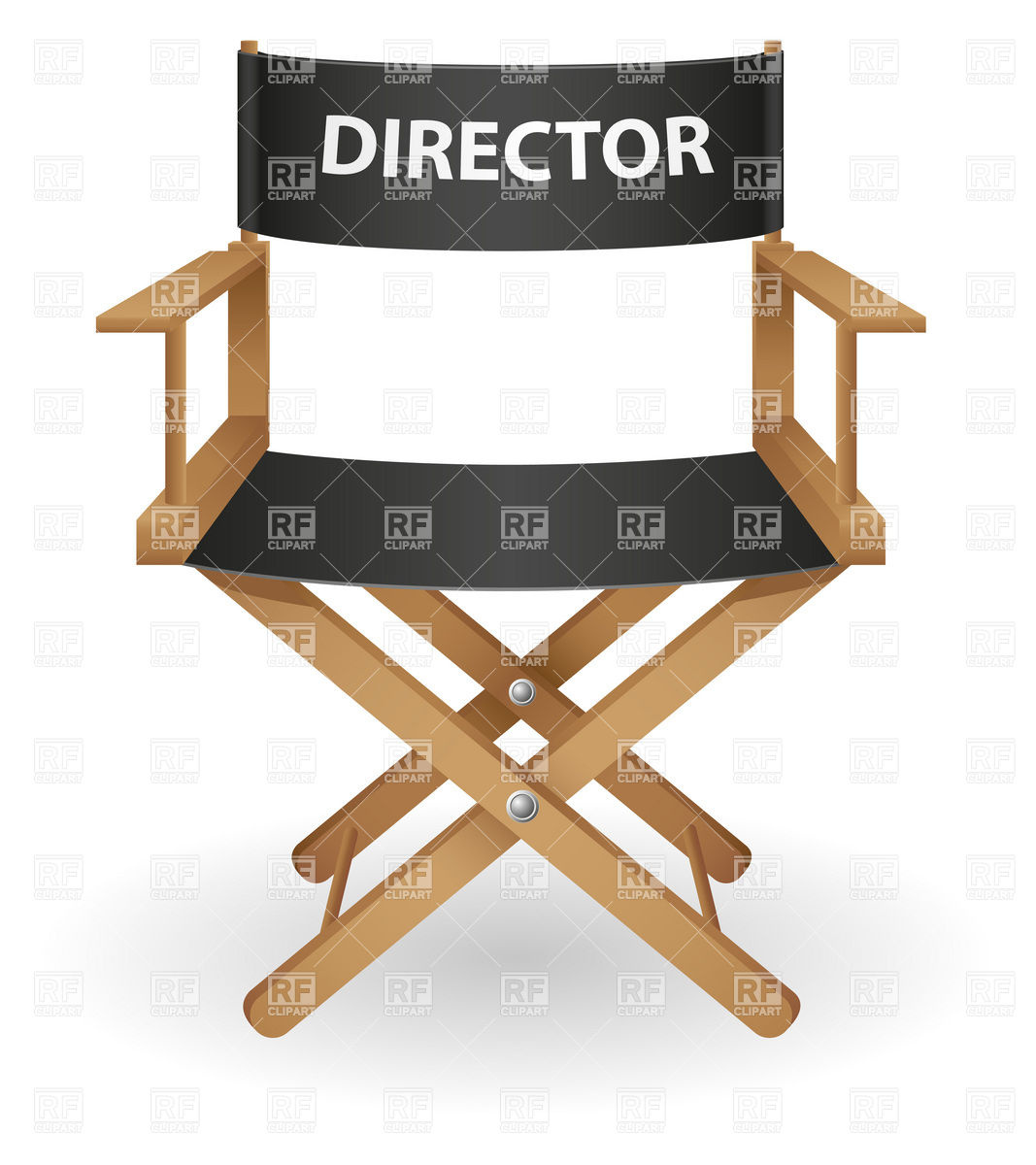 Movie Director S Portable Chair Download Royalty Free Vector Clipart