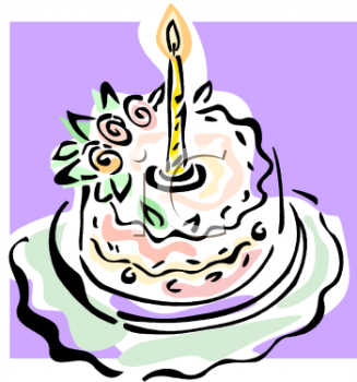 One Year Old Birthday Cake   Royalty Free Clip Art Image