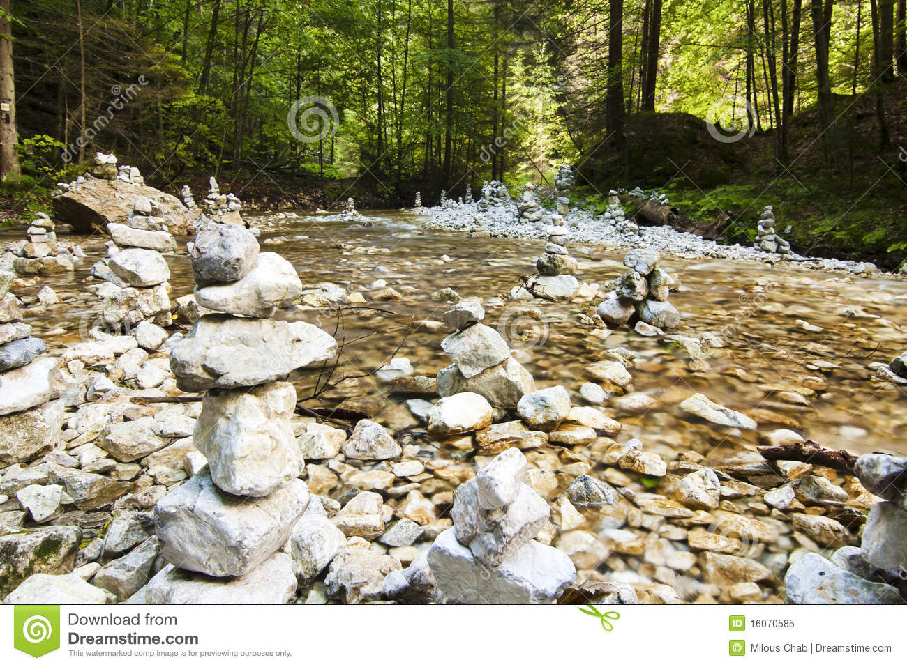 River Stream With Rocks Royalty Free Stock Photo   Image  16070585