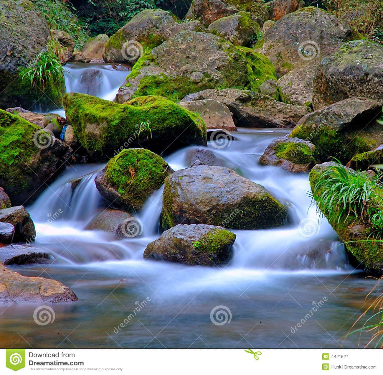 Royalty Free Stock Photography  Stream And Rocks