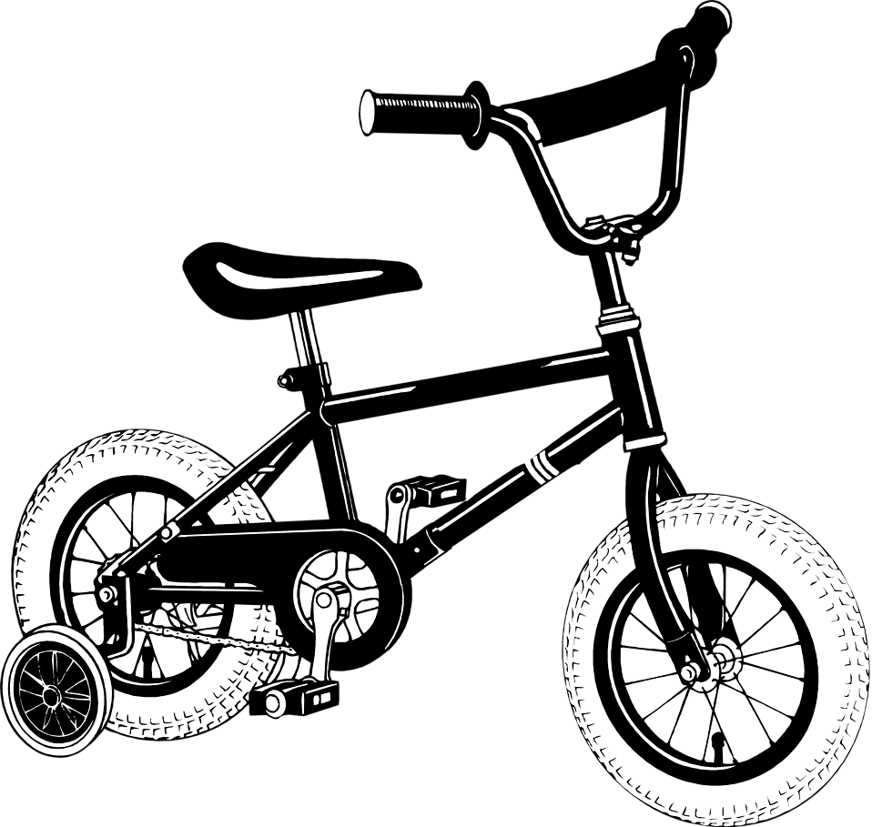 Stock Photo   Illustration Of A Bike With Training Wheels     7949