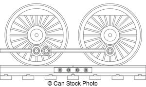 Train Wheels Illustrations And Clip Art  5620 Train Wheels Royalty