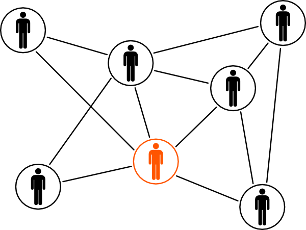 Black Orange Men Network Clip Art At Clker Com   Vector Clip Art