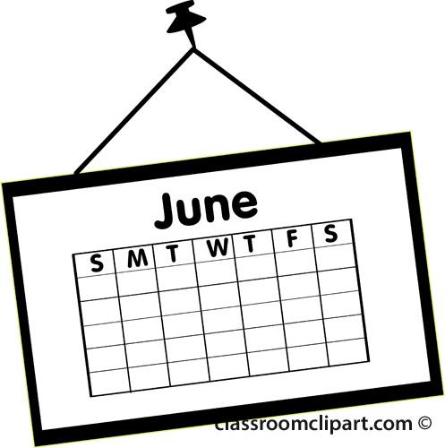 June Calendar Clip Art : June calendar clip art cliparts