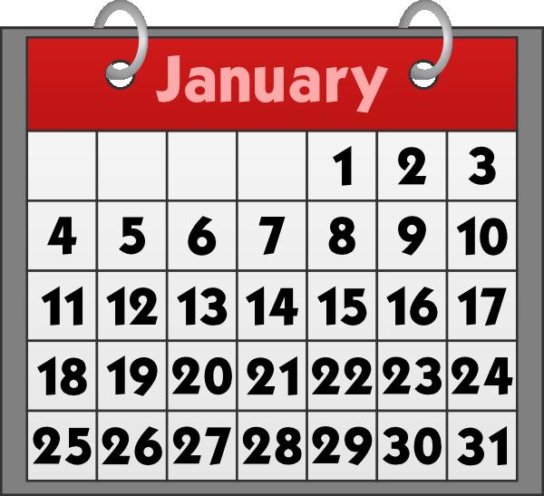 January Calendar Clip Art