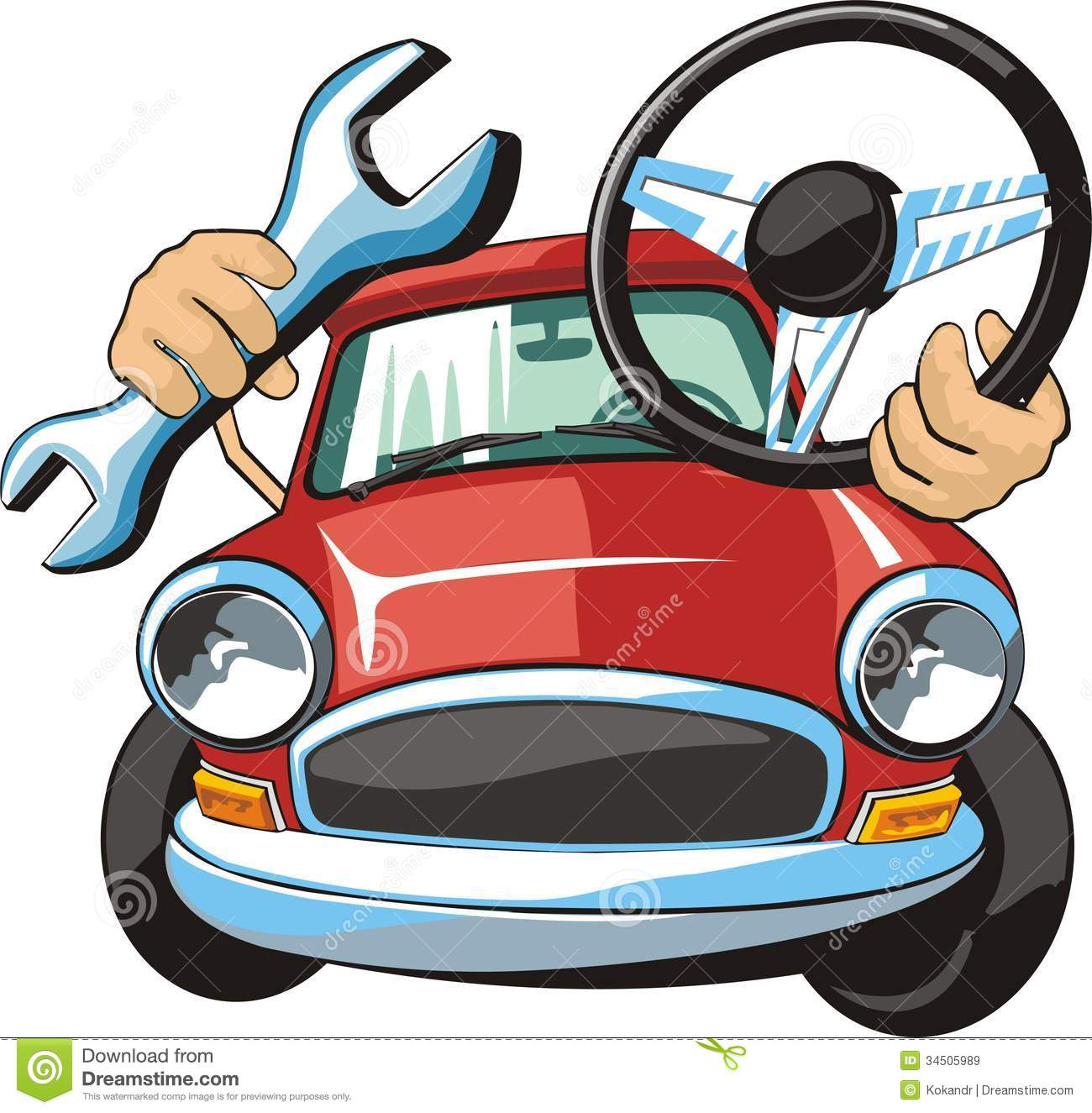 Car Maintenance Clipart Car Steering Fix Royalty Free