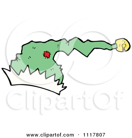 Cartoon Green Xmas Santa Hat 6   Royalty Free Vector Clipart By